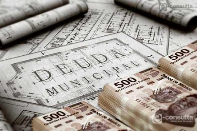Tienen 4 municipios de Puebla deuda pública por 173.7 mdp