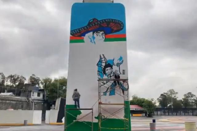 Estadio Azteca lucirá un nuevo mural dedicado a Maradona