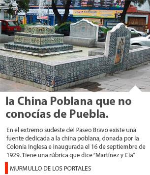 La segunda fuente de la China Poblana que no conocías de Puebla.