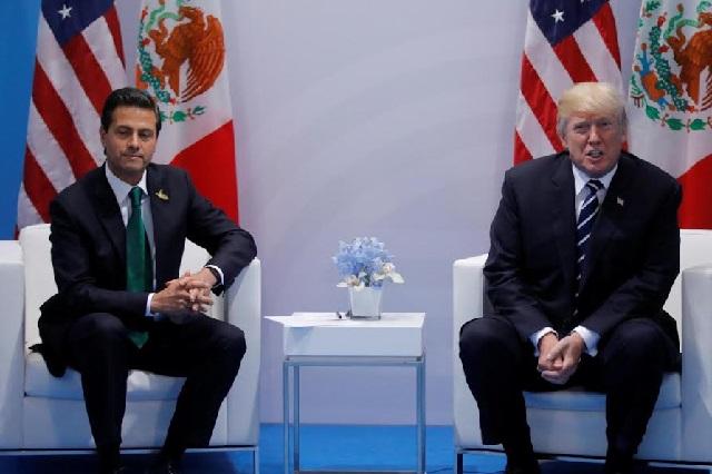 Trump declara en la Cumbre del G-20 que México pagará el muro