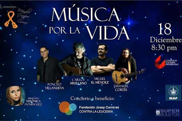 Este viernes se llevará a cabo el concierto Música por la Vida