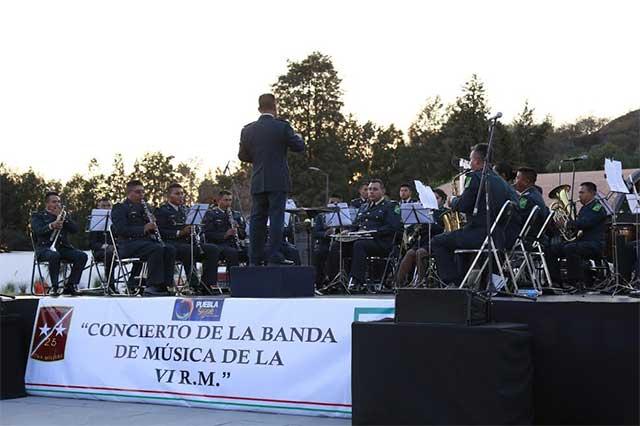 Reciben en San Andrés Cholula a Banda de Música de la VI Región Militar
