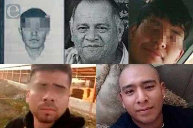 Eran músicos, taxistas y empleados, desaparecieron y los hallaron muertos