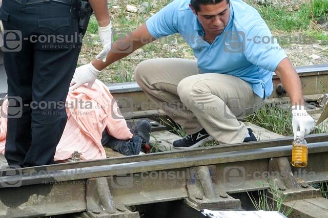 Tren mutila y mata a un ex presidiario en la colonia Tepeyac