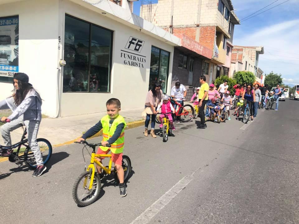Promueven con rodada la ciclovía en avenida Nacional