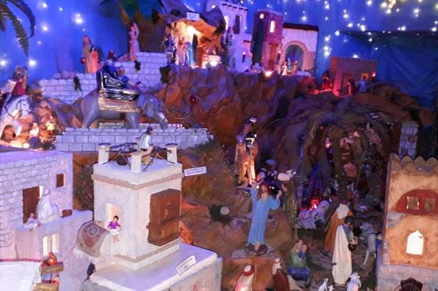 Recrean pasajes bíblicos en nacimiento monumental de Atlixco