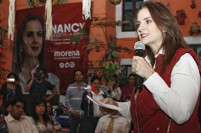 Nancy renunciará a encuesta si Morena no transparenta reglas