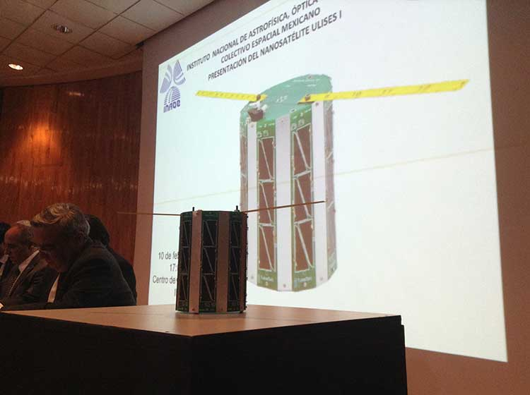 Buscan investigadores del INAOE apoyo para lanzar nano satélite