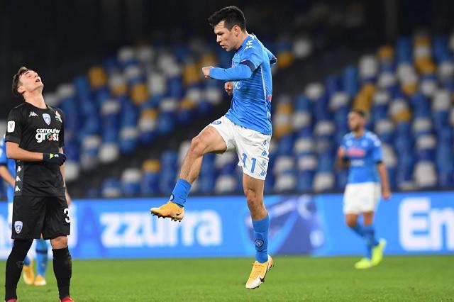 Napoli clasifica a 4tos de Copa Italia con golazo del 'Chucky'