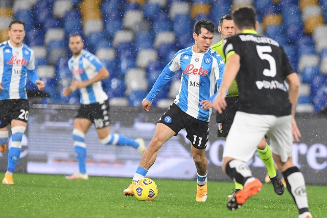 Napoli deja los puestos de Champions tras caer ante Spezia