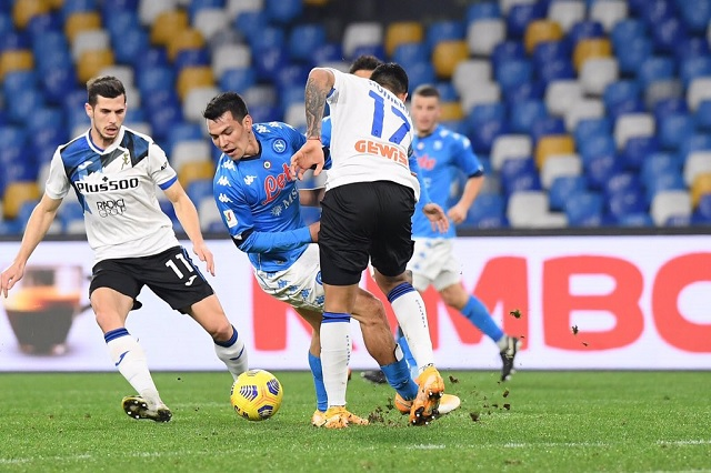 Copa Italia: Napoli y Atalanta empatan en semifinal de ida; Lozano jugó 82 minutos