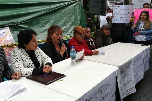 Exigen a Claudia Rivera manos fuera del sindicato Benito Juárez