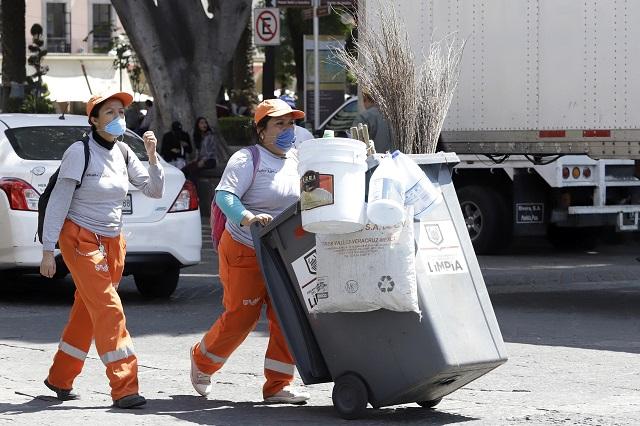 Aumento de 4.1%  a salario de trabajadores de limpia en Puebla