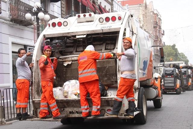 Suspenderán recolección de basura 12 y 25 de diciembre y 1 de enero