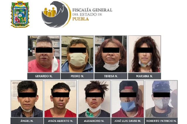 Por llevar drogas detienen a 2 mujeres y 7 hombres en Puebla