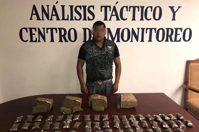 SSP asegura a narcomenudista en la colonia Constitución Mexicana