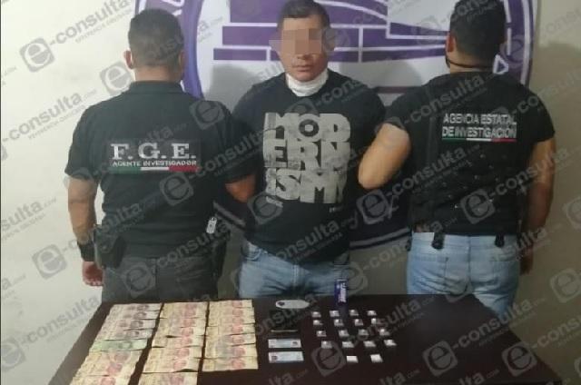 Detienen a narcomenudista de Veracruz en Teziutlán