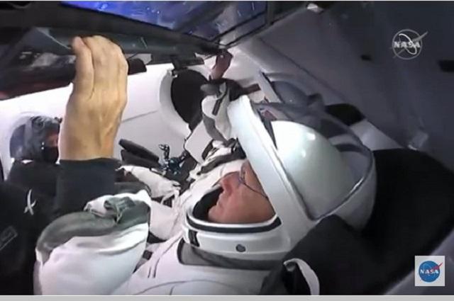 Lanzan Nasa y SpaceX primera misión privada al espacio