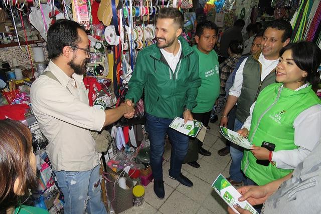Teziutlán se pintará de verde, asevera Juan Carlos Natale, del PVEM