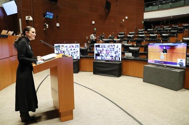Nancy de la Sierra votó  contra reforma de la industria eléctrica