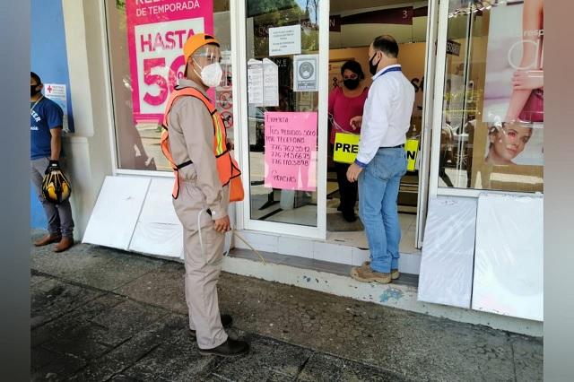 Prevén cierre de comercios en Huauchinango por aumento de contagios