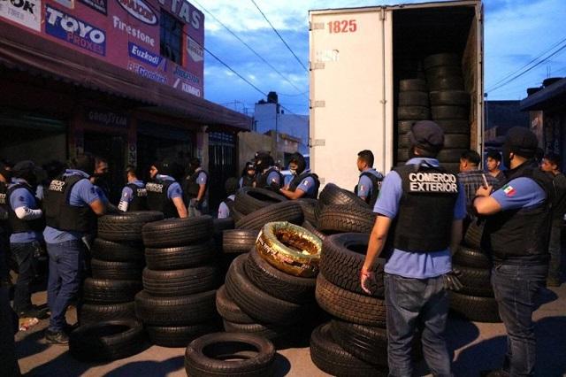 Aseguraron más de 4 mil 500 neumáticos tras operativo en la 46