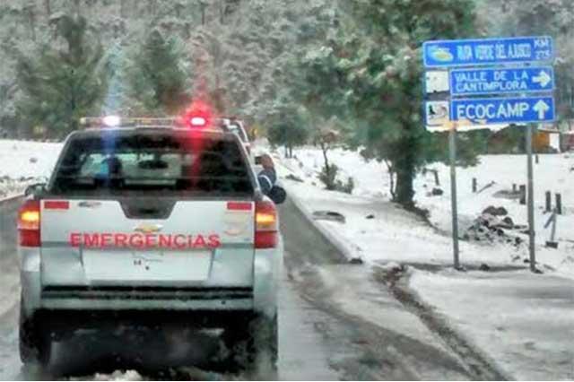 Cae nevada en las zonas altas de Cuajimalpa y Tlalpan