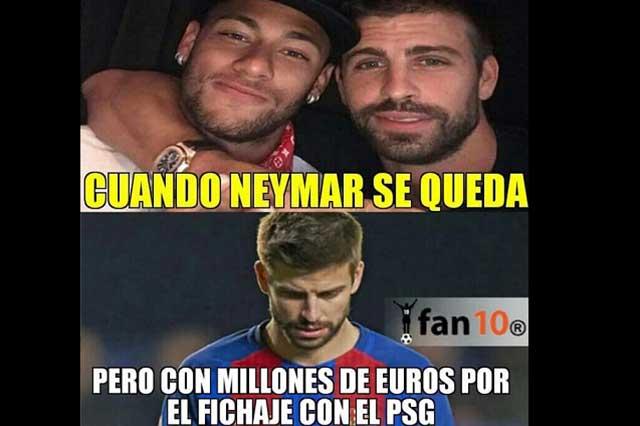 Dinero y memes: Se burlan del Barcelona porque Neymar no se quedó