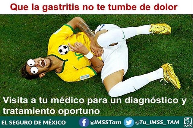 Hasta el IMSS usó las caídas de Neymar para hacer memes