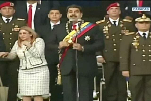 Publican video de explosión del dron que atacó a Nicolás Maduro
