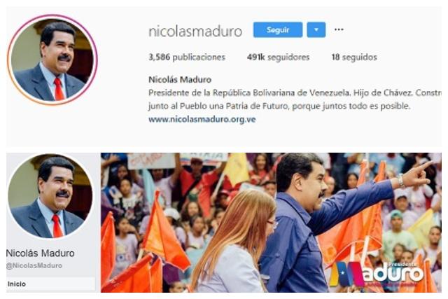 Facebook e Instagram retiran insignias a cuentas de Maduro