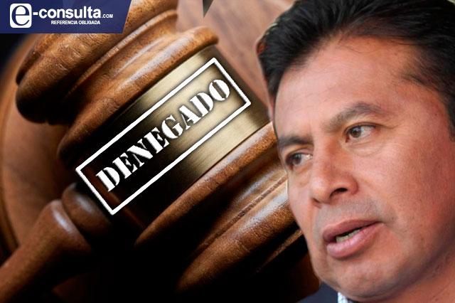 Niegan amparo a Paisano contra indagatoria por corrupción
