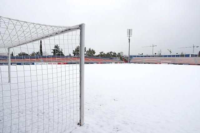 Suspenden 26 partidos a causa de la nieve en el futbol español