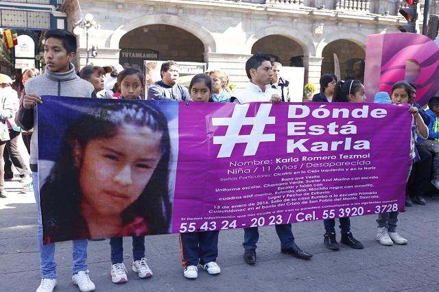 Padres de Karla denuncian ante la FGE posible trata de la menor