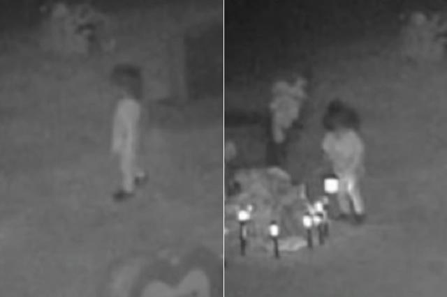 Captan a supuesta niña fantasma jugando en cementerio de EU