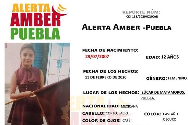 Menor desaparece en Izúcar de Matamoros y activan Alerta Amber