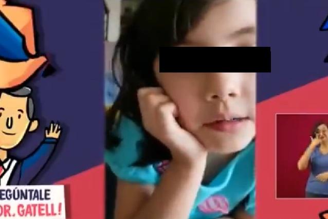 Niña le pide a López Gatell que resuelva coronavirus antes de su cumpleaños