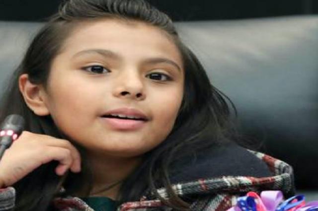 Adhara Maite, la niña genio de 11 años que el Senado reconoce