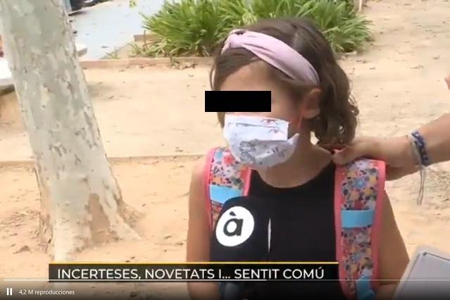 Video: opinión de niña con cubrebocas incomodaría a Gattel y AMLO