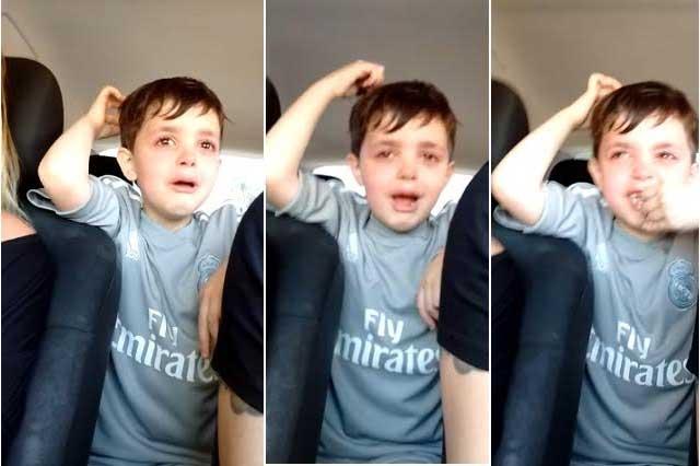 VIRAL: Conmueve video de niño que llora porque no quiere ser portero