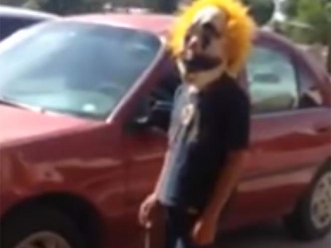 Niños con máscara de payaso salen a robar en calles de Hermosillo