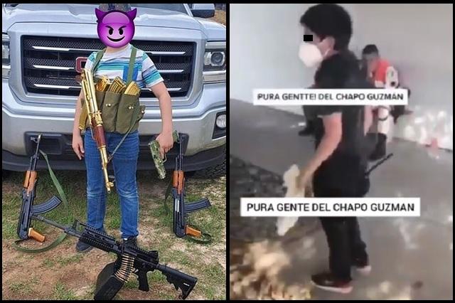 Presunto niño sicario dice trabajar para 'El Chapo' Guzmán y lanza amenazas