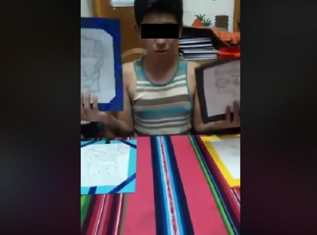 El niño boliviano que vende sus dibujos operación de su madre