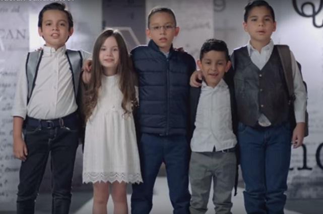 Lanzan spot en favor de reforma educativa con niños