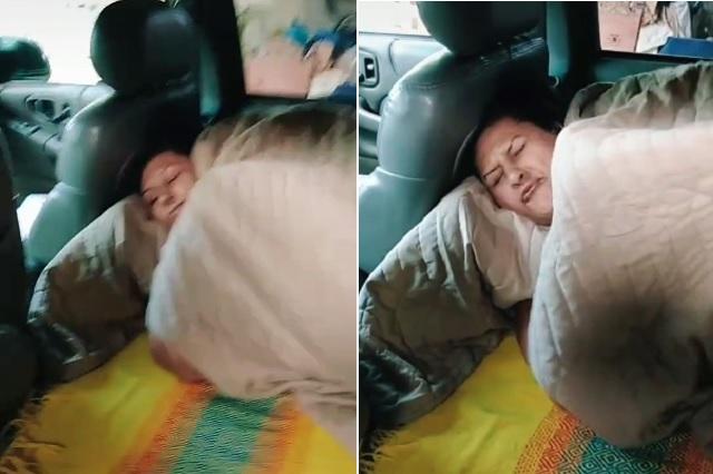 Prefiere dormir en su camioneta al ya no soportar a sus hijos: Video