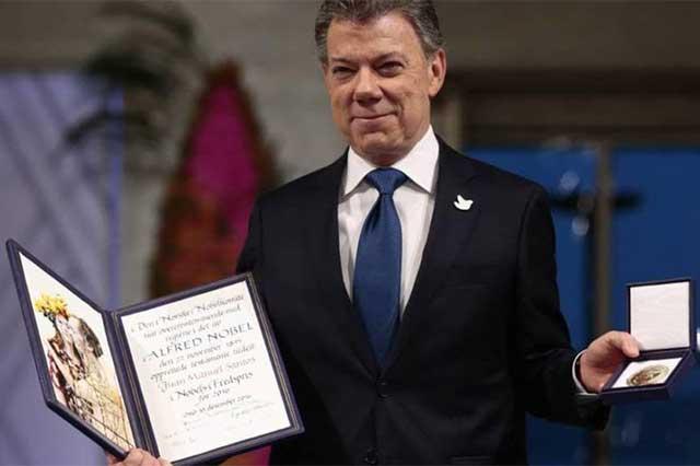 Recibe Juan Manuel Santos el Premio Nobel de la Paz