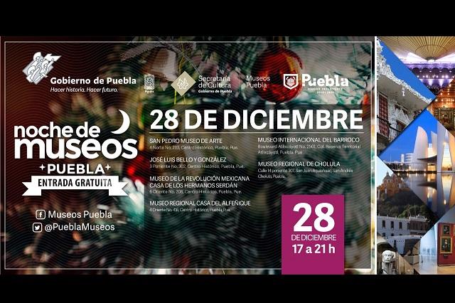 Anuncian la última Noche de Museos de 2019 en Puebla