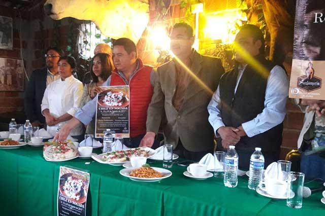 Festival del Chile en Nogada en Atlixco espera asistencia de 4 mil personas