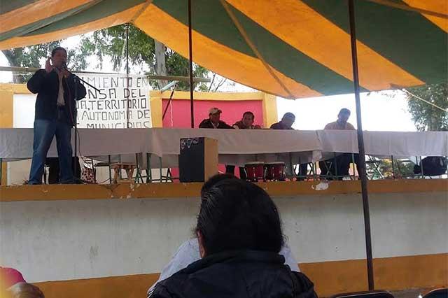 Exigen a edil de Nopalucan salir de convenio con Ciudad Modelo