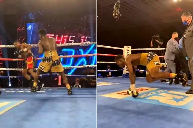 Brutal KO y posterior celebración por cortesía de Richard Commey: Video
